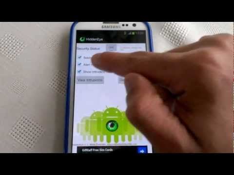 Video: Samsung Galaxy S3 HIDDEN EYE APPLICATION  MUST HAVE APP!!!