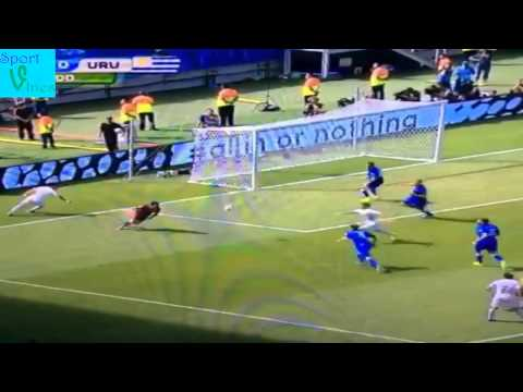Amazing save from Buffon against Uruguay (Suarez-Nicolas Lodeiro) #worldcup