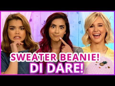 DIY SWEATER BEANIE?! Di Dare w/ Cassie Diamond, Paris Berelc, Isabel May