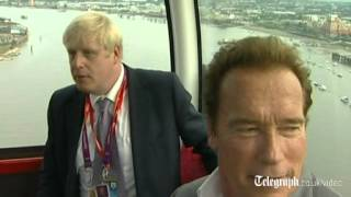 Boris takes Arnie for cable car ride