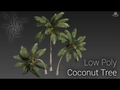 Low Poly Coconut Tree : Part 1 - Basic Modelling