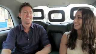 London 2012: Aly Raisman Taxi Cab Confessions for ET Online (extended / full)