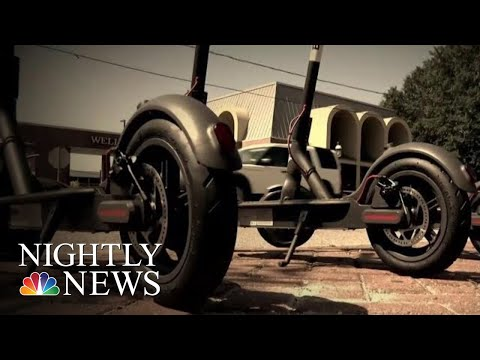 City Impounds Over 500 Scooters And Fines Company Nearly $100,000 | NBC Nightly News