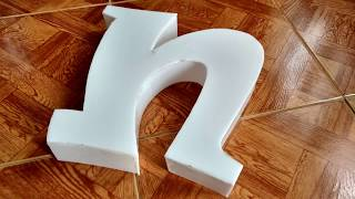 How to make 3D Letters Without machine (advertisement)