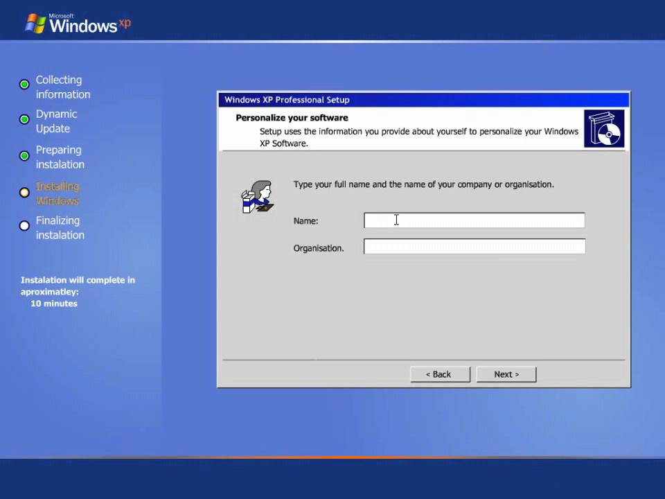Windows XP - Step By Step Install - YouTube