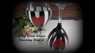 Easy Wine Glass Painting Part 2 | Glass Painting Tutorial | Valentine's Day | Aressa | 2019