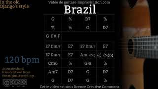 Brazil - Gypsy jazz Backing track / Jazz manouche