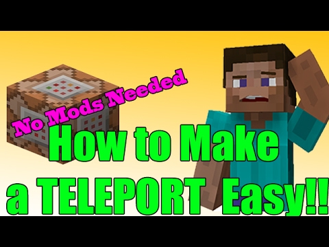 PC Minecraft 1.11.2 How to Make a TELEPORT EASY! No Mods Needed 2017