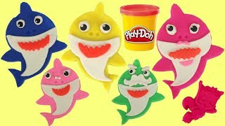 Pinkfong's Baby Shark Song Play-doh Set with Mold, Cutter & Plush Toys