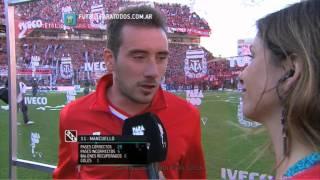 """Mancuello:""""Los clásicos hay que ganarlos"""".Independiente-Racing.Torneo Primera División 2014.FPT"""