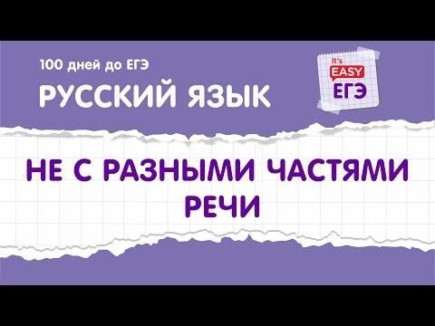 ЕГЭ по русскому языку. НЕ с разными частями речи