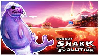 Hungry Shark Evolution - Volcano Map + Seal Boss New Preview