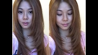 How to trim/cut your own hair with layers and get rid of split ends without losing length