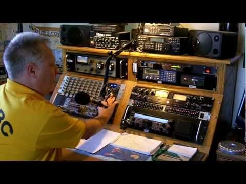 Working K6H Special Event Ham Radio Station On The Set Of