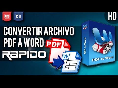 COMO CONVERTIR ARCHIVOS PDF A WORD | Facil y Rapido