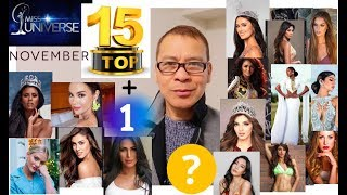 TOP 16 November Frontrunners!! Miss Universe 2018.