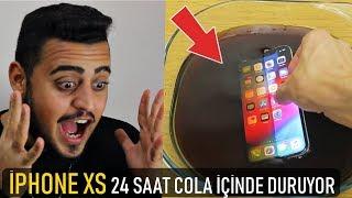 İphone XS 24 Saat Boyunca Cola İçinde Kalıyor | Bakın Ne Oluyor | İphone XS Test