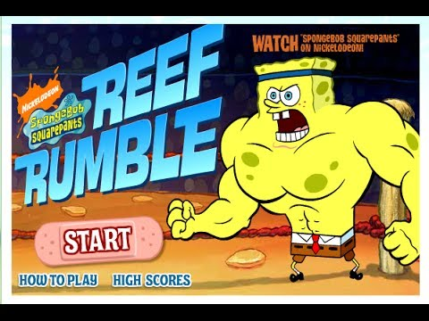 Spongebob Squarepants - Reef Rumble Game | Full Game 2014 video
