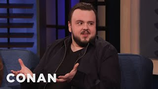 John Bradley Went Go-Karting At Kit Harington's Bachelor Party - CONAN on TBS