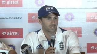 England cricket team speaks to media on their India tour in Ahmedabad, Gujarat