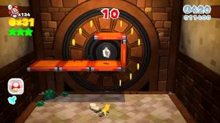 Super Mario 3D World Mundo 6-6 Escalada a la fortaleza Bill Bala