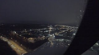 Stockholm-Bromma | Night landing Fokker 50