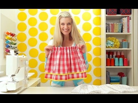 How to sew a Simple Skirt: a single layer AND a double layered skirt