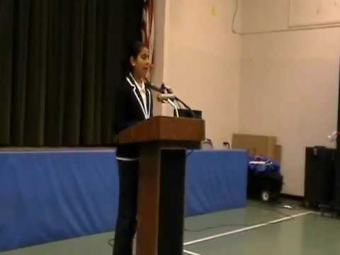 Amisha at Moreland District 15th Annual Speech Contest