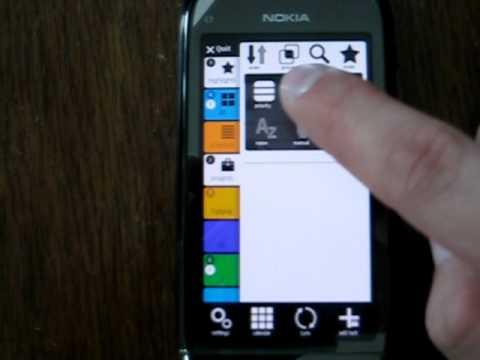 Tasks - main window Nokia C7