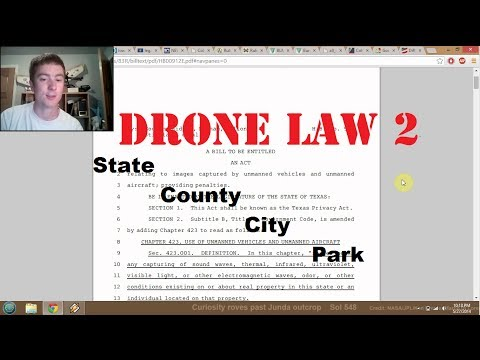 DRONE LAW 2: STATE AND LOCAL REGS