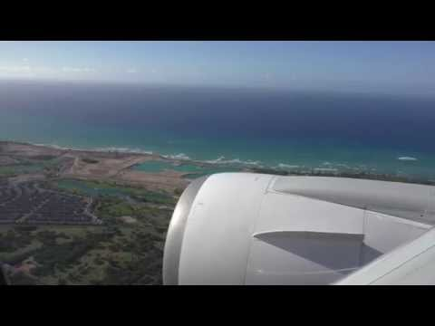 JAL ホノルル国際空港へ着陸 - Landing at Honolulu International Airport