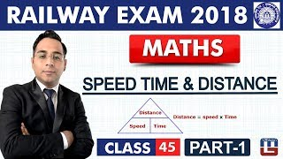 Speed Time & Distance    Part-1   Maths   Class - 45   RRB   Railway ALP / Group D   Live At 10 PM