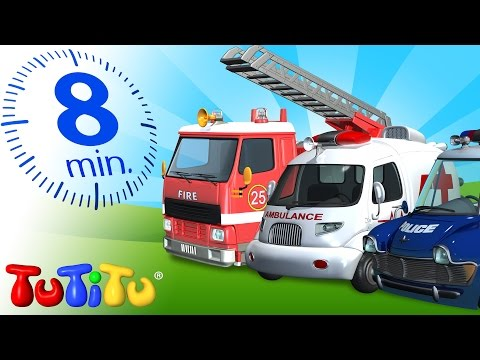 TuTiTu Specials | Rescue Forces Toys for Children | Police, Ambulance and Fire Truck!