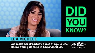 Lea Michele: Did You Know?