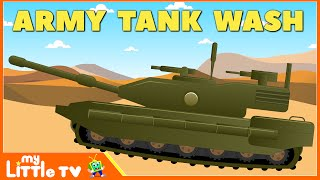 Army Tank | Car Wash Videos | Cartoons for Children | Kids Videos