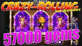 Castle Clash/Битва Замков, Crazy - rolling!!! 57000 gems, for Kodder, или как выбить 3х тыкв!!!