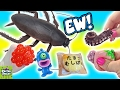 Cutting Open Huge Cockroach Squishy Toy! Homemade Bug Slime! Mesh Ball Doctor Squish