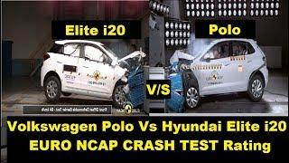i20 Vs Polo Crash Test Safety Rating| Volkswagen VS Hyundai