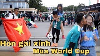 Thử Thách Bóng Đá mùa World Cup 2018 hôn gái xinh thế giới tại Nga