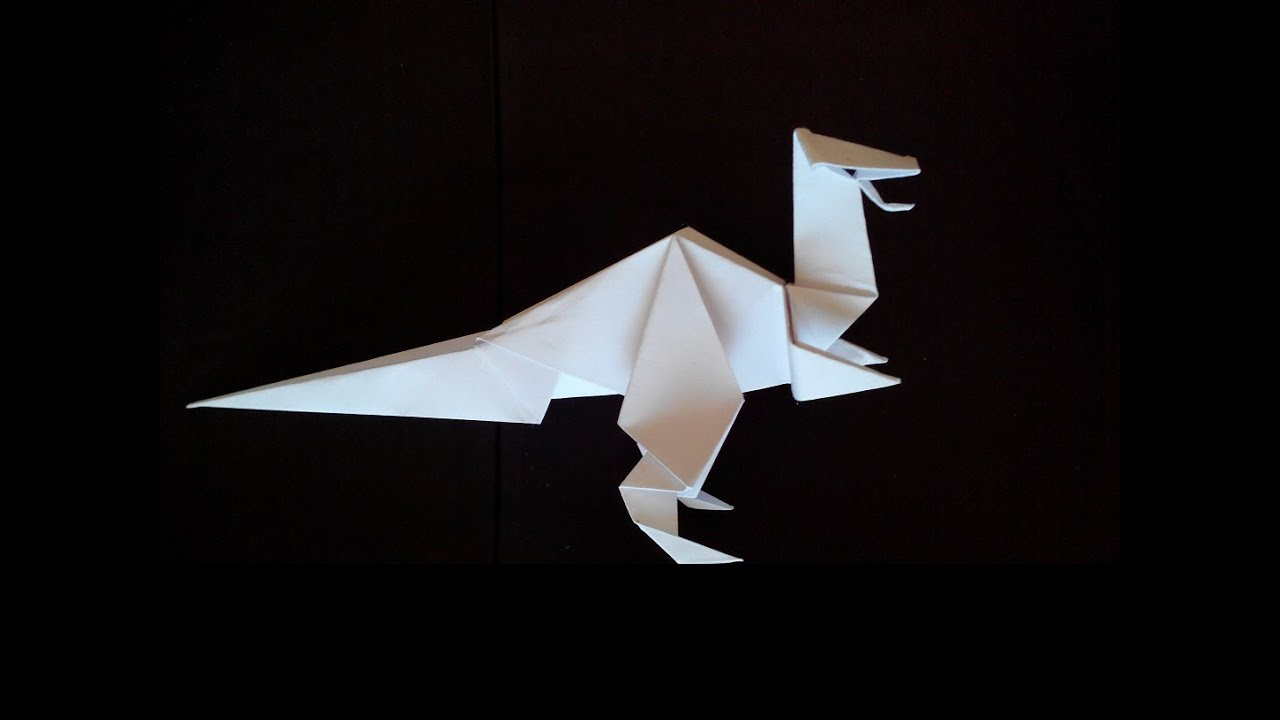 How to Make an Origami Dinosaur  Origami  Printing Materials