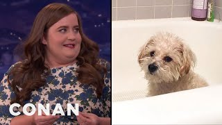 "Aidy Bryant On Her Dog's ""Ass Distress""  - CONAN on TBS"
