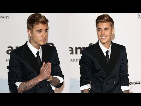Justin Bieber Handsome Man in Suit at amFar Gala -- PICTURES