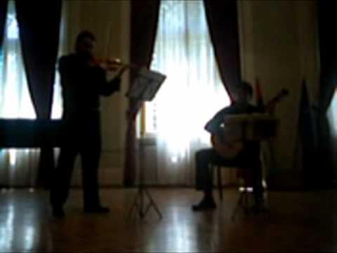 Ferdinando Carulli-Serenade opus 109 No 1-Milan Mitic guitar,Igor Aleksic violin