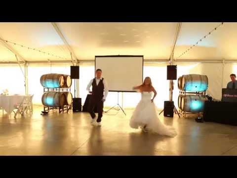 Surprise Wedding Dance!! Dirty Dancing time Of My Life, dirty Bit, pump It... video