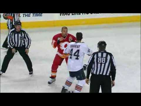 Jarome Iginla's Gordie Howe hat-trick Jan 30, 2010 Video