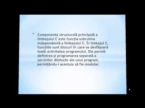 Tutorial C - Prezentare Limbajului De Programare
