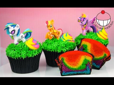 Rainbow Unicorn Poop Cupcakes – My Little Pony Edition! By Cupcake Addiction