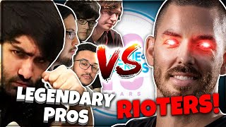 Five Legendary Pros vs Five Rioters! (Birthday Beat Up) 🤪🎉 | Voyboy