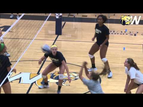 2015 Wingate Volleyball - First Practice Sights and Sounds
