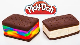 Play Doh Rainbow Ice Cream Sandwich Play Doh Food Treats